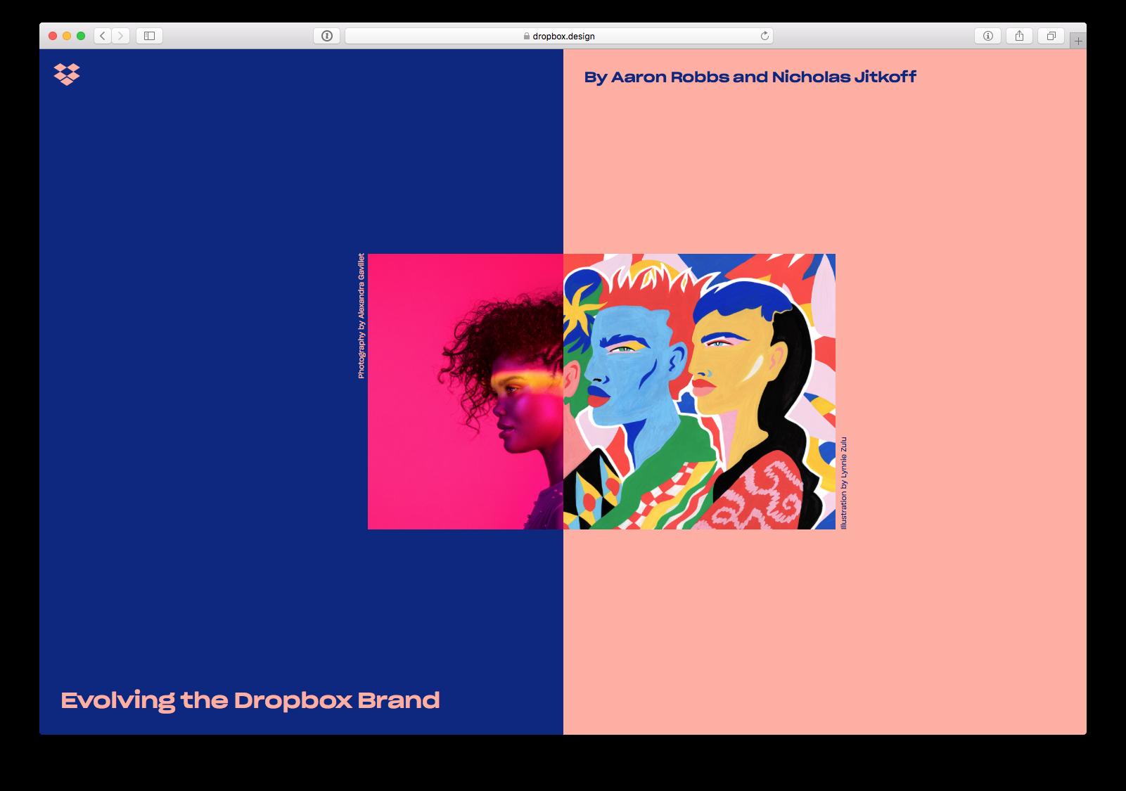 dropboxdesignのサイトのスクリーンショット